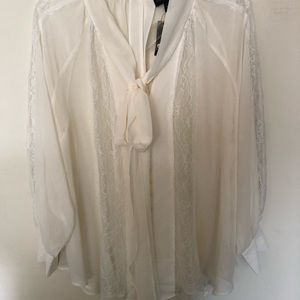 Lace Victorian ivory blouse